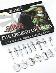 Bijoux Inspiré par The Legend of Zelda Cosplay Anime/Jeux Vidéo Accessoires de Cosplay Colliers Argenté Alliage Masculin / Féminin