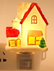 diseño creativo con forma de casa de cerámica lámpara de noche junto a la cama la luz de la lámpara de fragancia