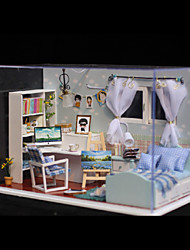 Romantic Gift Birthday Gift Manual Model DIY Wood Dollhouse Including All Furniture Lights Lamp LED