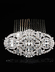 Hairpin Silver Comb for Women Rhinestone Crystals Wedding Hair Accessories Party Wedding Bridal Jewelry