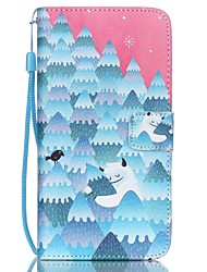 HZBYC®Forest Snowman Pattern PU Material Card Lanyard Case for Galaxy Note 5