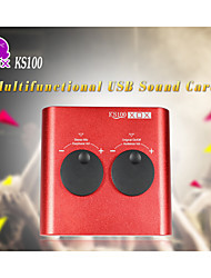 xox® KS100 multifunktionale USB-Soundkarte für mp3 / ipad / PC / MAC / Notebook