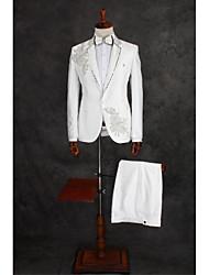 Costume ( Ivoire , Coton / Polyester , 2 Pièces ) Coupe Standard