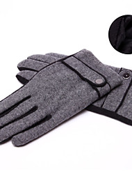LYZA Men's Warm Solid Color Thicken Full Fingered Gloves