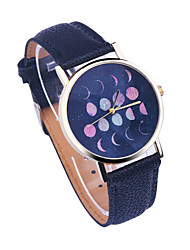 Moon Phases Watch, Vintage Style Leather Watch Women Watches Boyfriend Watch World Map Men's Watch Astronomy Galaxy Cool Watches Unique Watches