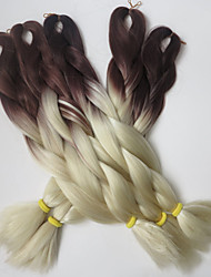 24inch 100g #brown&613 Ombre Two Tone Colored Xpression Snythetic Long Hair Jumbo Twist Braid  Hair