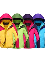 Women's Long Sleeve Windproof and Waterproof  3 in one Skiing Jacket