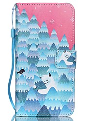 HZBYC®Forest Snowman Pattern PU Material Card Lanyard Case for Galaxy G530/G360
