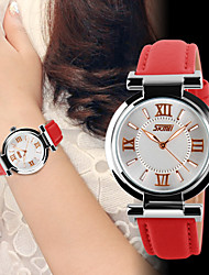 Women's Fashion Watch Quartz Leather Band Luxury Black White Red