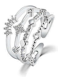 Contracted Fashion Crown Crystal Ring Promis rings for couples