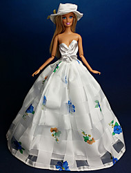 Movie & TV Theme Costumes Dresses For Barbie Doll White Dresses