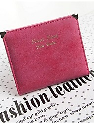 Women PU Casual / Professioanl Use Money Clip Pink / Blue / Black / Fuchsia