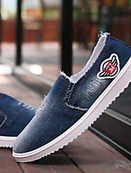 Men's Shoes Canvas Office & Career / Casual / Athletic Loafers / Slip-on Office & Career / Casual / Athletic Slip-on Blue