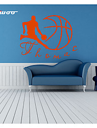 AWOO®   Play Basketball  Wall Stickers Home Decor  Vinyl Man Stickers For Kids Room Decoration 4024L