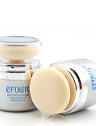 Mineral Long Lasting Brightening Delicate Makeup Loose Face Powder Base Foundation Blush Link With Sponge Puff