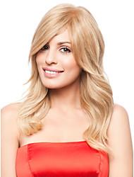 dame de vente chaude couleur blond perruques de cheveux synthétiques
