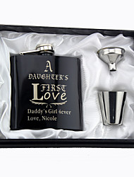 Gift Groomsman Father's Gift Personalized 4 Pieces  Stainless Steel Flasks 6-oz Flask Gift Set