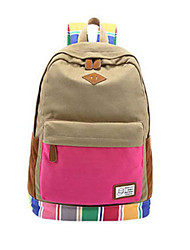 New Fashion Women Girls Canvas School Backpack For Middle School And College