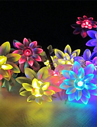 King Ro solar 21.32ft 30LED Lotus Fancy Wedding Party Decoration Light Outdoor Waterproof String Lights