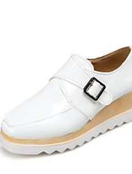 Women's Shoes Platform Comfort / Round Toe Heels Wedding / Outdoor / Dress / Casual Black / White / Silver / Gray