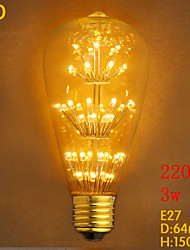 ST64LED Starry 3W 220V Edison Bulb MTX Edison Light Bulb Decoration