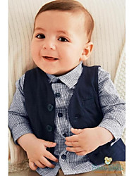 Dark Navy Cotton Ring Bearer Suit - 3 Pieces