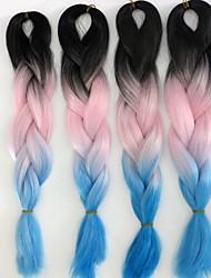 24inch 100grams Xpression snythetic cheveux longs tricolor hombre #Black&rose&jumbo boîte bleue tresser les cheveux blonds