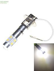 h3 PK22s 35w 7 x CREE LED blanche lampe de phare de voiture ampoule de phare 6000k brouillard AC / DC 9-30V