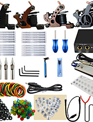 ITATOO® Top Quality Kits Tattoo 4pcs New Style Tattoo Machines with Free Gift of 20 Pigment