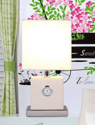 Cloth Art Litchi Grain Contracted And Contemporary Electronic Alarm Lamp T1403
