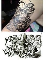Christmas / New Year Animal Series Cool Skulls Pattern Size 22*16*0.1cm Tattoo Stickers Temporary Tattoos(1pcs)