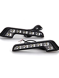 2 * LED DRL Car Auto Truck Daytime Running Lamp Waterproof 12V White Light Bulb