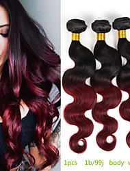 Ombre Peruvian Virgin Hair Ombre Burgundy Hair Body Wave Wavy Ombre Hair Extensions Red Wine 100% Human Hair Extensions