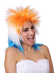 cor da mistura sem tampa extra longo de alta qualidade cabelo liso natural, peruca sintética