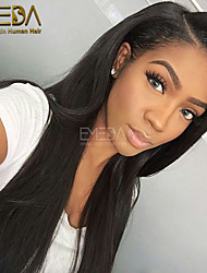 Unprocessed Full lace Wigs Long Silk Straight Human Hair Lace Wigs Celebrity Wigs 10''-26'' Lace Front Party Wigs