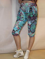 Women's Print Multi-color Harem Middle Pants , Casual / Print