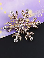 vintage Intarsien Diamant Schneeflocke Brosche