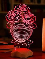 25*10*10CM Transparent Acrylic 3 D Luminous Glow Plates Desk Lamp Light Led
