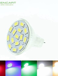 8W GU4(MR11) Spot LED MR11 15 SMD 5630 700-900 lm Blanc Chaud / Blanc Naturel / Vert / Rouge / Bleu GradableAC 24 / DC 24 / 9-30 / DC 12