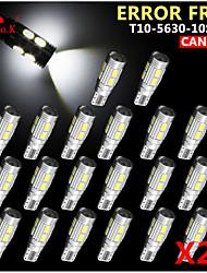 20x canbus coin t10 blanc 192 168 194 W5W 10 5630 SMD LED Lampe erreur ampoule 12v gratuitement