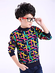 Boy's Fashion Winter / Fall  Thicken Cashmere Splice Knit  Crew Neck Tops