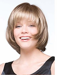 Fashion Lady Blonde Color Middle Long BOBO Hair Synthetic Wigs