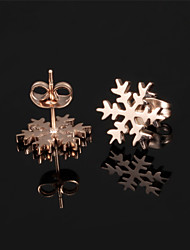Ms Stainless Steel Not Faded Snow Earrings