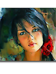 Beautiful Girl Oil Painting Wall Art IARTS Brand Ready Stretcher New Designs For Christmas Whosale