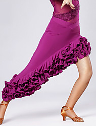 High-quality Viscose with Draped Latin Dance Skirts for Women's Performance (More Colors)