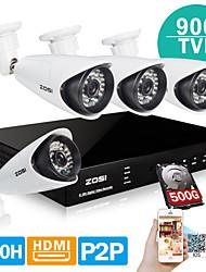zosi® 4ch 960H HDMI 500GB HDD DVR-Kits 4x 900tvl ir schneiden Outdoor CCTV-Kamera-Sicherheitssystem