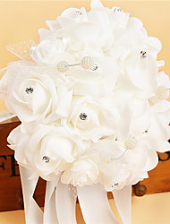 Bouquets (Blanc , Satin/Mousse/Cristal/Strass) Roses