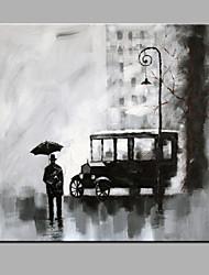 única mão puro clássico desenhar pronto para pendurar rua pintura decorativa pintura a óleo vista