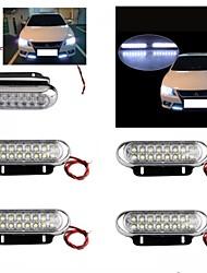 1set 4 автомобиля грузовик универсальный день туман AUX вождения DRL 16 светодиодная лампа белого