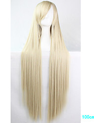 Anime Cosplay Wig Light Blonde 100 CM Long Straight Hair High Temperature Wire
